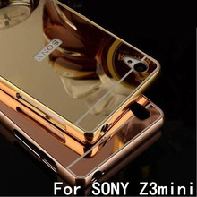 Buy Sony Xperia Z3 Compact Case Aluminum Metal Frame Mirror Plating Cover Sony Z3 Compact Z3 Mini D5803 Mirror Cases Capa for $4.99 in AliExpress store