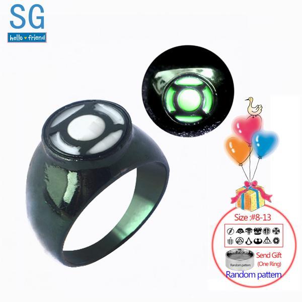 PKR 285.68 | SG Hot Movie Superhero Green Lantern Hal Jordan Rings Iron Man Tony Stark Finger Luminous Rings Men Thanos Spilla Xmas Jewelry