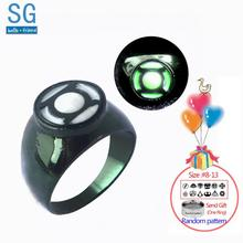 PKR 285.68 | SG Hot Movie Superhero Green Lantern Hal Jordan Rings Iron Man Tony Stark Finger Luminous Rings Men Thanos Spilla Xmas Jewelry