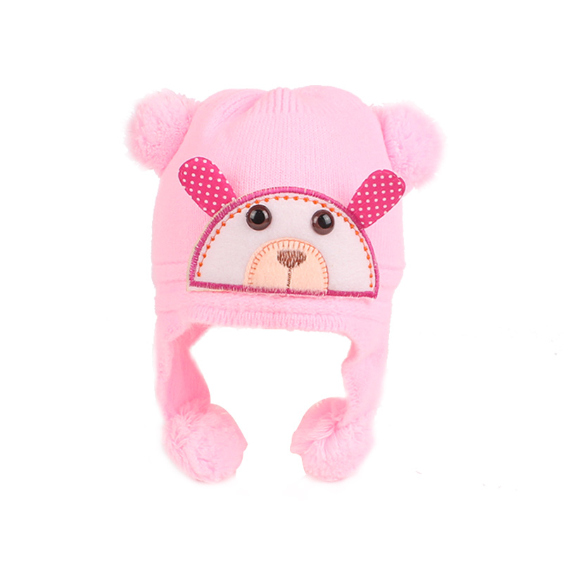 Crochet Baby Beanie Hat Warm Baby Winter Pompon Hat Cotton Soft Knitted Pattern Hat For Newborn Winter Hat Baby Girls Clothing (6)