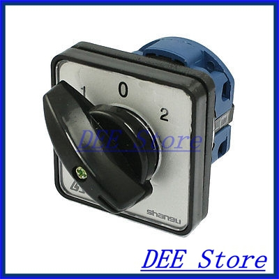 AC 440V 240V on/off/on 3 Positions Momentary Rotary Combination Switch<br><br>Aliexpress