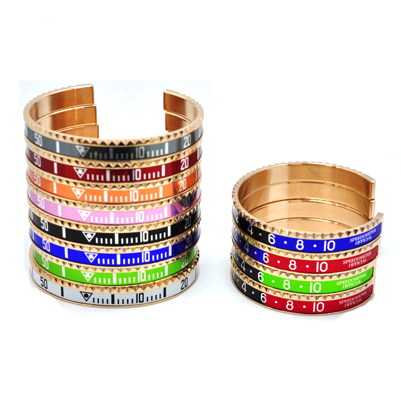 Speedometer Stainless Steel Fashion Bracelets 11