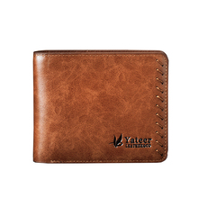 Men short Wallets Retro style High-grade leather Wallet Man personality Fashion sense Purse Card holder Coin Purse best gift!