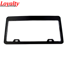 High Quality JDM Front Rear Carbon Fiber Look USA/Canada License Plate Frame Tag Cover Holder for Auto Truck Vehicles car stying