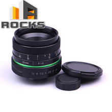 Green circle Lens 35mm Upgraded Style Manual Iris Lens ,2016 New Suit For Fuji for Canon for Nik for Sony for Olympus