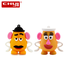 Toy Story Mr Mrs potato head USB Flash Drive Pen Driver Cartoon Couple Memory Stick 4GB 8GB 16GB 32GB 64GB Pendrive U Disk Gift(China)