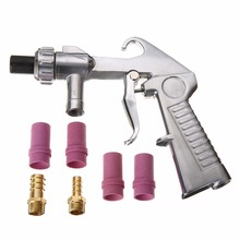 New Professional Spray Gun Mayitr Air Siphon Sand Blasting + Iron / Ceramic Nozzles Abrasive Power Tool Accessories New