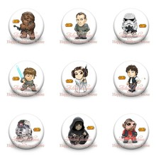 18pcs Cool Star Wars Super Heroes Cartoon Badges Pinbacks Badges Buttons Pins Badges 30mm Round Badge Clothes/Bags Accessories(China)