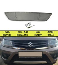 Car Mesh Grille for Suzuki Grand Vitara 2012-2015 chrome color car styling molding decoration protection mesh grille accessories