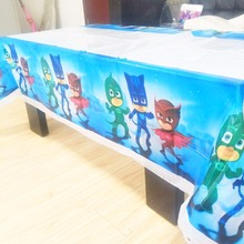 108cm*180cm PJ Masks Party Tablecloth Birthday Party Decoration Disposal Kids Boys Event Party Supplies Table Cloth Paw