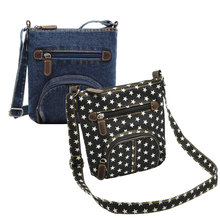 Fashion Women's Durable Denim All-matched Shoulder Bags Messenger Bag Handbag Leisure Stylish Popular