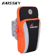 HAISSKY Sport Running Case For iPhone 7 Plus 6 6S 5S Samsung Galaxy S6 S7 Edge Xiaomi Mi5 Huawei P9 P10 Plus Arm band Wallet Bag