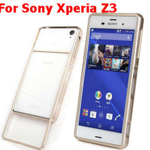 Bumper Case Sony Xperia Z3 Luxury Ultra Thin Pull Push Metal Aluminum Frame Hard Cover Phone Fundas - Kayla Store store