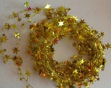700CM Colorful Iron Wire Stars Beaded For Christmas Tree Christmas Ornaments Supplies Party Decoration(China)