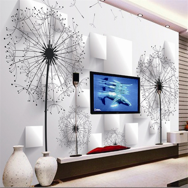beibehang 3d wallpaper TV background wallpaper for living room sofa backdrop mural KTV rooms mural of - Paardebloem Behang