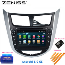 Free Shipping Android 6.0 2Din Car dvd for HYUNDAI Solaris Accent Verna europe version 2DIN GPS Car Stereo Solaris Radio GPS