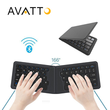 [AVATTO] A20 Pocket Leather Folding Mini Keyboard Bluetooth Foldable Wireless Keypad for iphone,android phone,Tablet,ipad,PC(China)