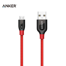 Anker PowerLine+ Micro USB Cable 0.9m/3ft Charging USB Cable Gray/Red Sync Cable for Smart Phone Tablet