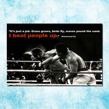 Muhammad Ali Motivational Inspirational Art Silk Canvas Poster 13x20 inches Boxing Pictures For Living Room Decor (more)-10(China)