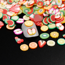 New 2000pcs/pack 3D Nail Art Fruit Fimo Slices Polymer Clay DIY Slice Decoration Nail Sticker Nail Jewelry Wholesale MJ0021(China)
