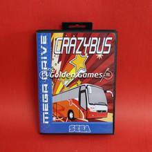 Crazy Bus 16 Bit Game Card With Retail Box For Mega Drive