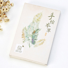 30 pcs/lot Vintage Plant Colorful postcard landscape greeting card christmas card birthday card message gift cards