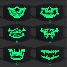 COOL luminous skull mask toy,Night Lights wild mouth-muffle,novel gift friends fashion anime fans party wearing 2015 girls boys(China)