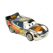 Brand New Cartoon Pixar Cars Silver McQueen Diecast Metal Toy Car 1:55 Loose Brand New Alloy Car Toy For Collection(China)