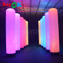 2m/3m attractive led air tube inflatable pillar for party and event stage lighting decoration for sale