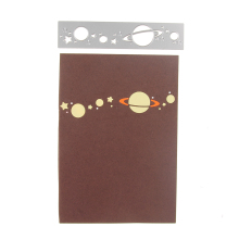 DIY Science Space Planets Metal Cutting Dies Embossing Stencil Line Element Die Craft Cards Album Book Scrapbooking Decoration(China)