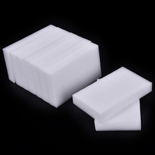 100 pcs/lot high quality melamine sponge Magic Sponge Eraser Melamine Cleaner for Kitchen Office Bathroom Cleaning 10x6x2cm(China)