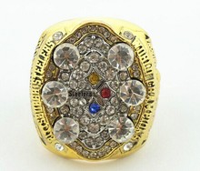 Wholesale sports rings 2008 Pittsburgh Steelers Super Bowl replica championship rings with a gift box(China)