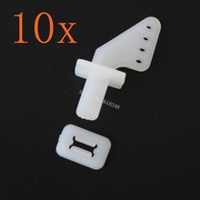 10pcs Lock On Nylon Control Horns 21x11 mm (4 Hole) For RC Model Airplane Parts Remote Control Foam Electric KT Kit