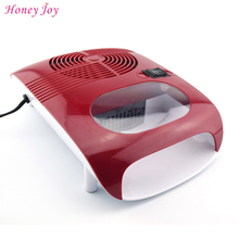 Hot & Cold Air Nail Dryer Blower Manicure for Drying Nail Polish & Acrylic Beauty Red Color 220V EU 110V US Plug Tool Fan(China)