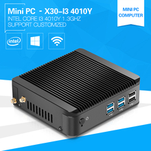 XCY Mini Computer I3 4010Y 1.3GHz With High Performance CPU Cheap Mini Thin Client Aluminum Alloy case Fanless 2G Ram 64G SSD(China)