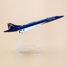 15.5cm Alloy Metal Plane Model Air France Costa Concordia PEPSI F-BTSD Airways Airlines Airplane Model w Stand Aircraft Gift(China)