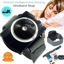 2017 Smart Snore Stopper Wristband Anti Snoring Watch Biosensor Infrared Intelligent Night Aid Biosensor Snore-ceasing Equipment