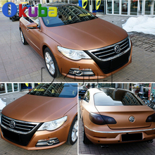 Bronzed Matte Chrome Sticker Car Wrap Coffee Brown Chrome Matt Finished with Air Bubble Free Vehicle Decoration Film Covers