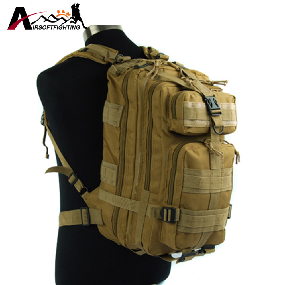 600D Tactical Molle 3P Hydration Assault Backpack Rucksack Outdoor Hiking Camping Trekking Waterproof Heavy Duty Storage Bag<br>