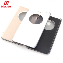 hacrin Elephone P7000 Case + Hall Switch Premium Protector Leather Case Flip Cover For Elephone P7000 mobile phone(China)