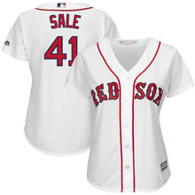 MLB Women's Boston Red Sox Chris Sale White Home Cool Base Jersey(China)