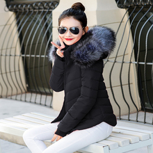 Fake fur collar downParka cotton jacket 2017 Winter Jacket Women thick Snow Wear Coat Lady Clothing Female Jackets Parkas