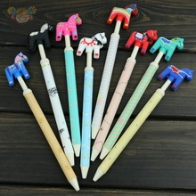 1pcs/Lot Kawaii colorful horse design Ballpoint pens Novelty cartoon ball pen funny gift prize Stationery Office school supplies