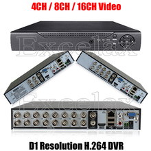4/8/16CH CIF D1 Resolution H.264 Standalone DVR 4 8 Channel Digital Video Recorder HDMI RCA Port P2P Cloud Analog CCTV Camera
