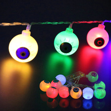LED Battery String Light 2M 20PCS Ghost Eyes Halloween Lighting Night Lights for Halloween Party Decor Colorful/White/Warm White