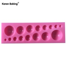 New Arrival Different Size Round Bead Shape 3D Silicone Cake Mold Tools For Wedding Cake Decoration-C529