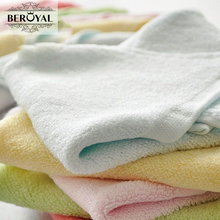 New 2017 Hand Towel -- 4pc/Lot 25*48cm Bamboo Towel Baby Face Cloth Plain Dyed Children Bibs Soft Towels bathroom Brand Towel