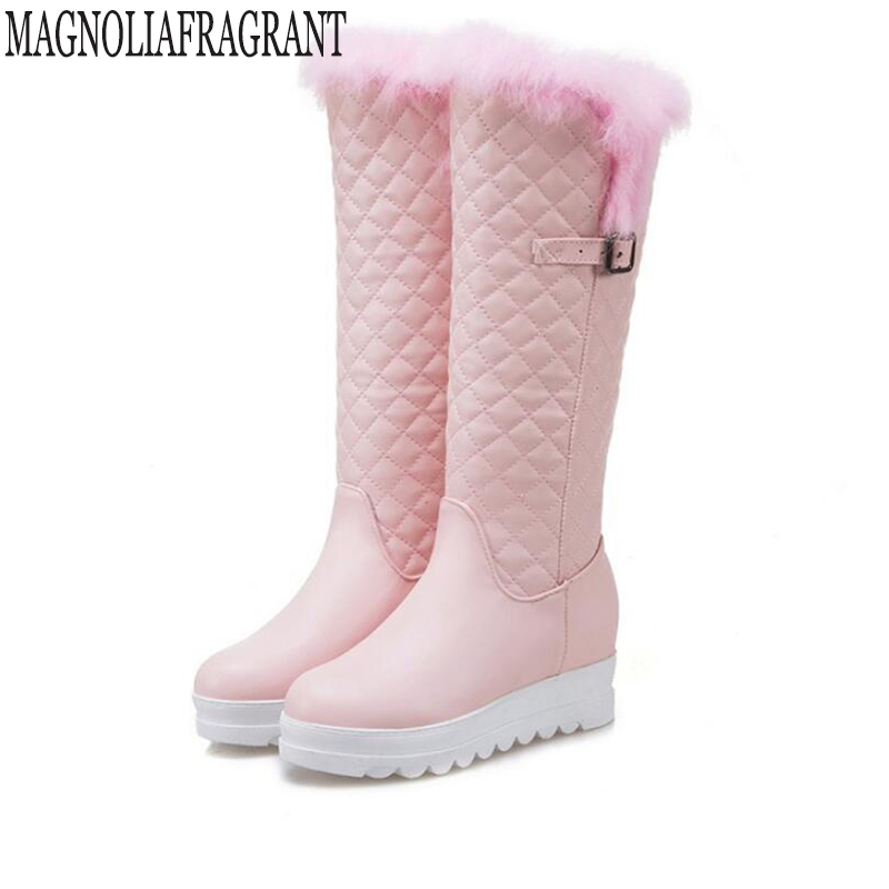 Plus size womens boots New womens boots winter shoes thick plush non-slip waterproof snow boots for women botas mujer k544<br>