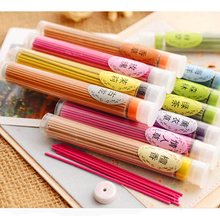 Natural Plant Essential Oil Aromatherapy Incense Sticks Barrel 50 Pieces Color Incense Sticks aroma sticks10 Flavor Can Be Chose