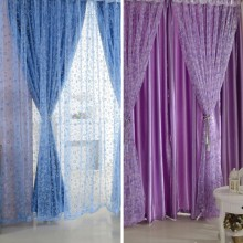 Circle Pattern Room Voile Window Curtains Sheer Panel Drapes Scarfs Curtains
